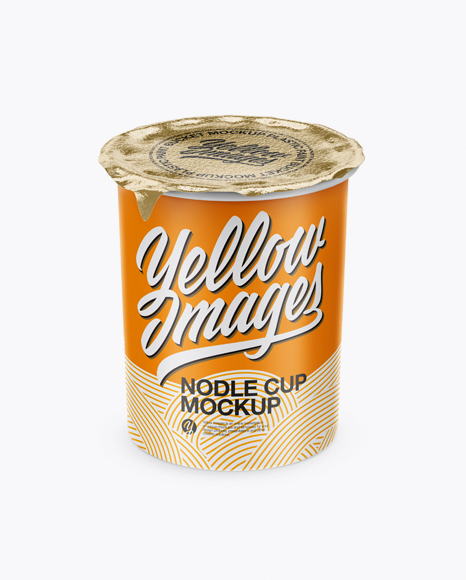 Download Glossy Cooked Noodle Cup Mockup PSD - Free PSD Mockup Templates