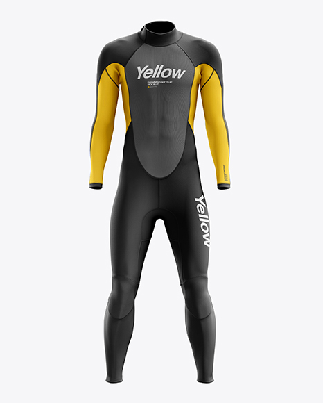 Download Men's Full Wetsuit mockup (Front View) Object Mockups