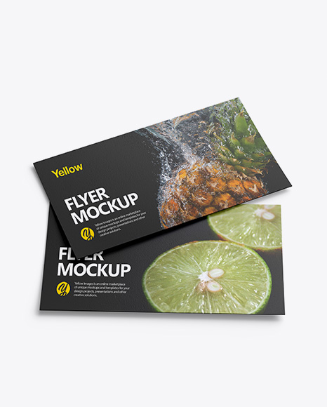 Download Free Two Textured Flyers Mockup PSD Template