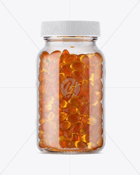 Download Clear Glass Fish Oil Bottle Mockup In Bottle Mockups On Yellow Images Object Mockups PSD Mockup Templates
