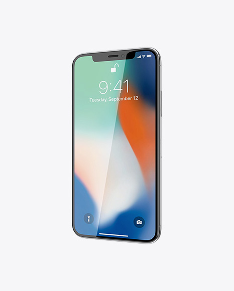 Apple iPhone X Mockup - Half Side View