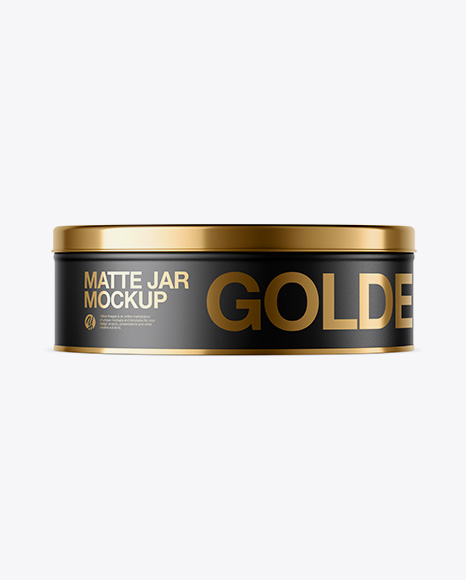Matte Round Tin Can Mockup