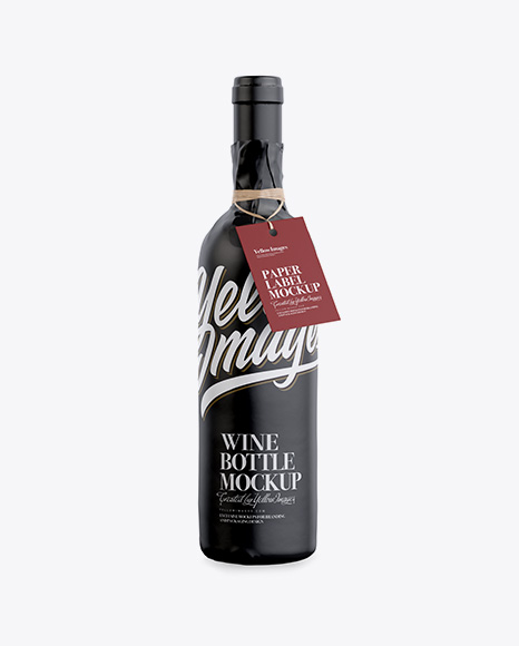 Download Wine Bottle in Glossy Paper Wrap W/ Label Mockup Object Mockups
