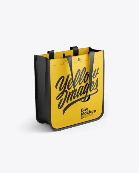Download Free Bag Mockup - Half Side View (High-Angle Shot) PSD Template