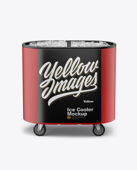 Download Outdoor Ice Cooler Mockup - Front View (High-Angle Shot) Object Mockups
