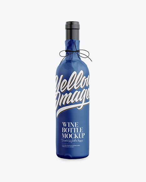 Wine Bottle in Matte Paper Wrap