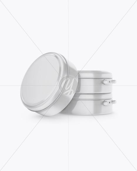 Glossy Shoe Polish Cream Jars Mockup