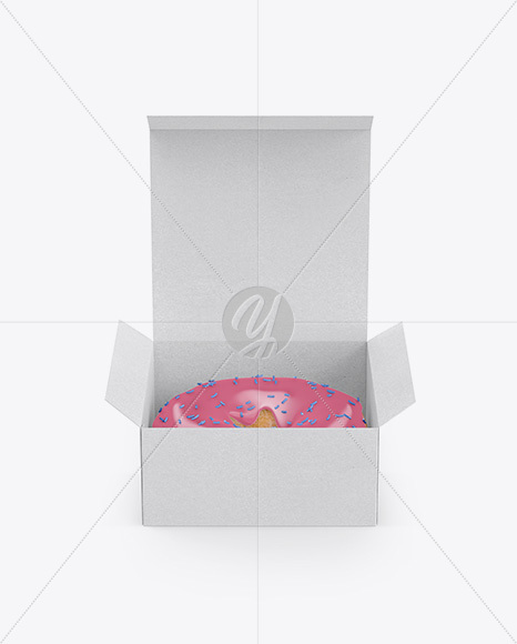 Download Plastic Bag With Milk Chocolate Glazed Donut Mockup PSD - Free PSD Mockup Templates