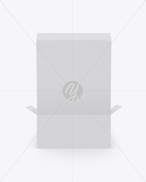 Opened Paper Box Mockup - Back View (High-Angle Shot)