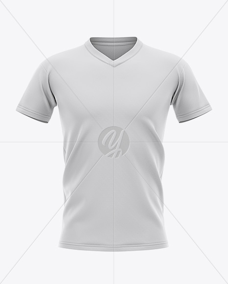 Men's V-neck Football Jersey Mockup - Front View