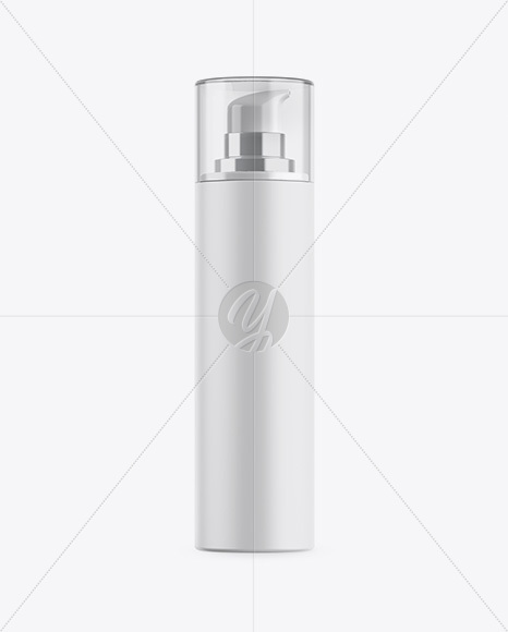 Matte Cosmetic Bottle w/ Pump Mockup