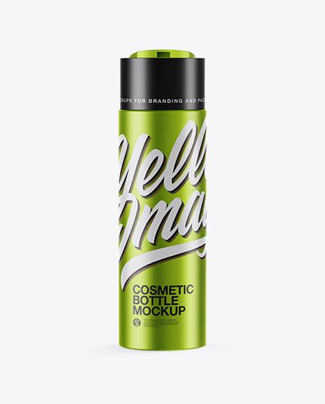 Download Free Matte Metallic Cosmetic Bottle Mockup PSD Template