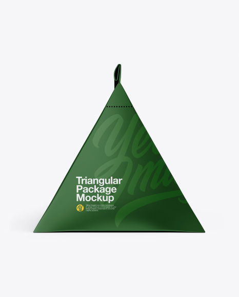 Download Free Triangular Package Mockup - Front View PSD Template