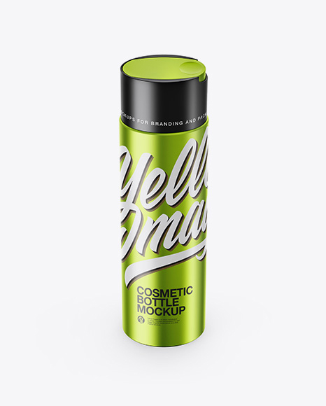 Download Free Metallic Cosmetic Bottle Mockup PSD Template