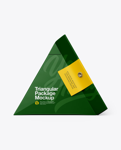 Download Triangular Package Mockup - Side View Object Mockups