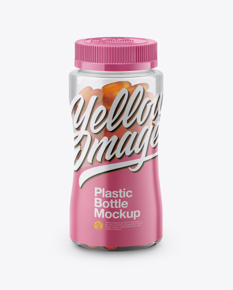 Download Bottle With Gummies Mockup Front View High Angle Shot PSD - Free PSD Mockup Templates