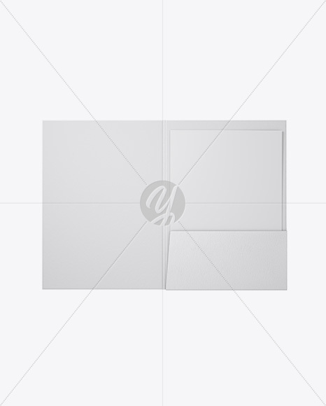 Leather Folder with Papers Mockup