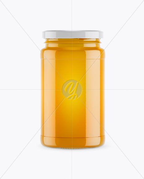 Honey Jar Mockup - Front View