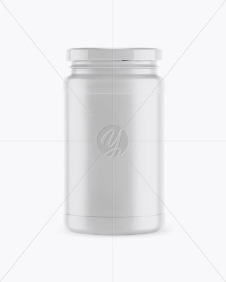 Ceramic Jar Mockup - Front View