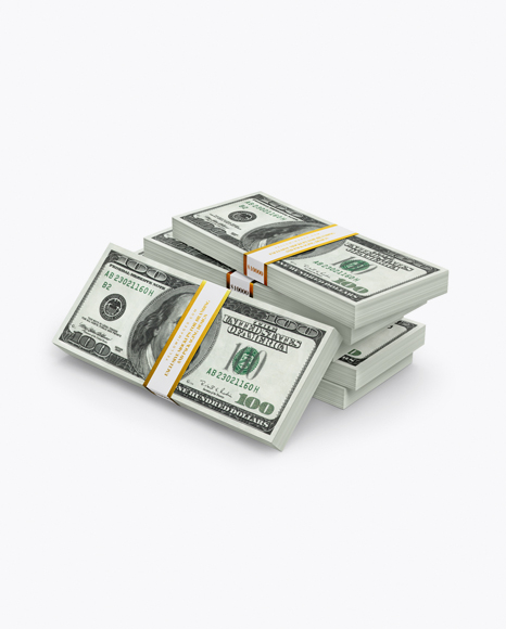 Money Stacks Mockup