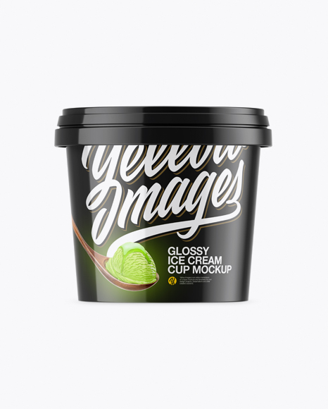 Download Glossy Ice Cream Cup Mockup Object Mockups