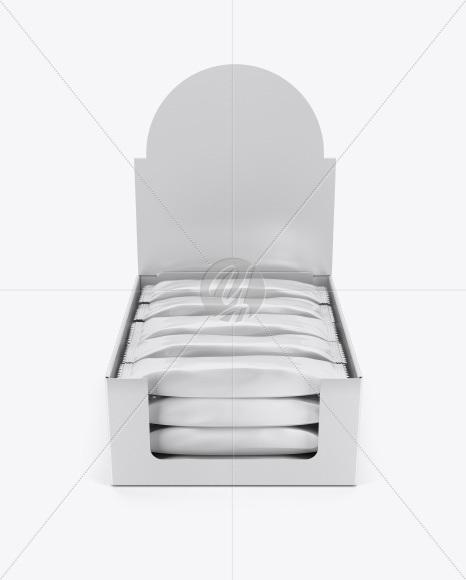 Download 12 Snack Bars Display Box Mockup Halfside View High Angle Shot PSD - Free PSD Mockup Templates