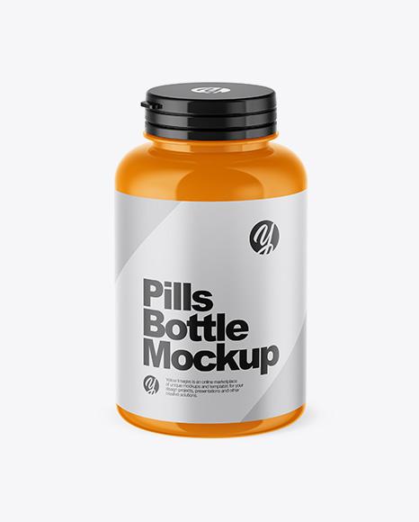 Download Glossy Pills Bottle Psd Mockup High Angle Shot Free Downloads 27315 Photoshop Psd Mockups PSD Mockup Templates