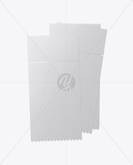 Download Three Paper Tickets Mockup Free Mockups