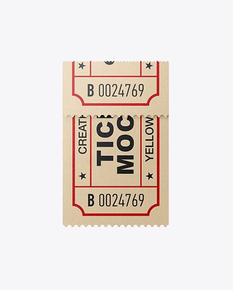 Download Folded Paper Ticket Mockup Object Mockups