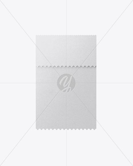 Folded Paper Ticket Mockup