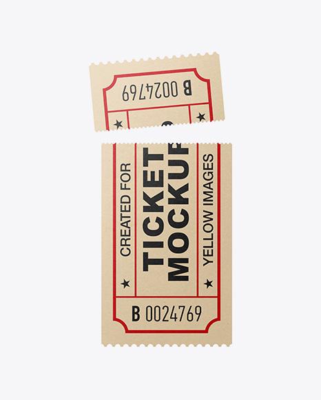 Download Paper Ticket Mockup Object Mockups