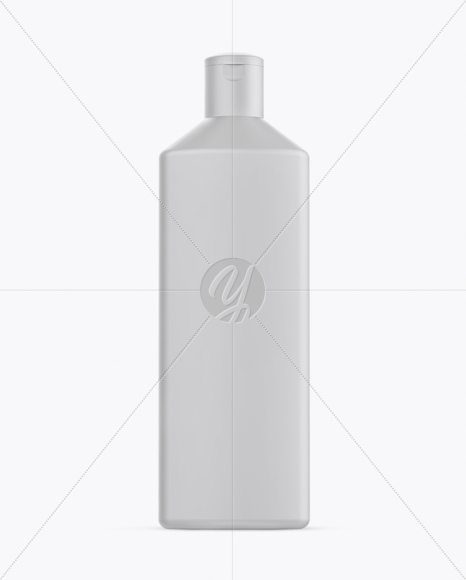 Matte Square Shampoo Bottle Mockup