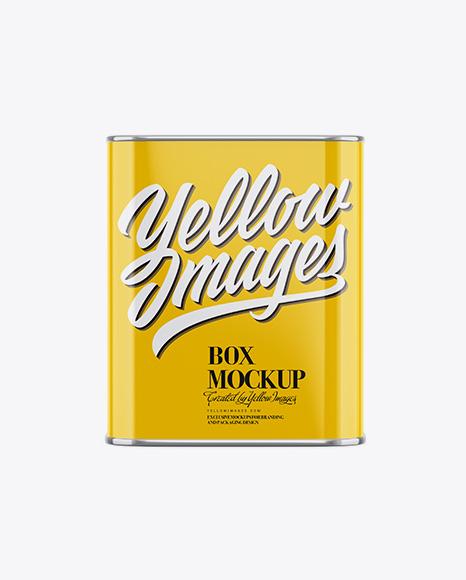 Glossy Tea Box Mockup - Front View