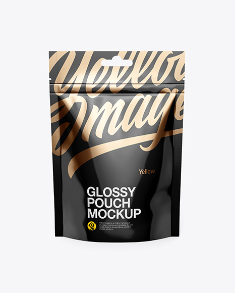 Download Free Glossy Stand Up Pouch Mockup - Front View PSD Template