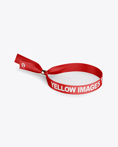Download Silicone Wristband Mockup Yellowimages