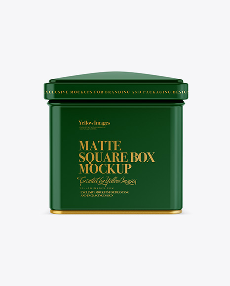Download Matte Square Tin Box Mockup Object Mockups