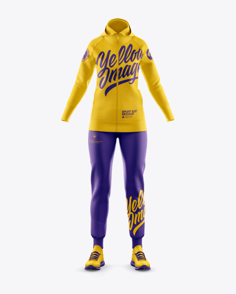 Download Women's Sport Suit Mockup - Front View Object Mockups