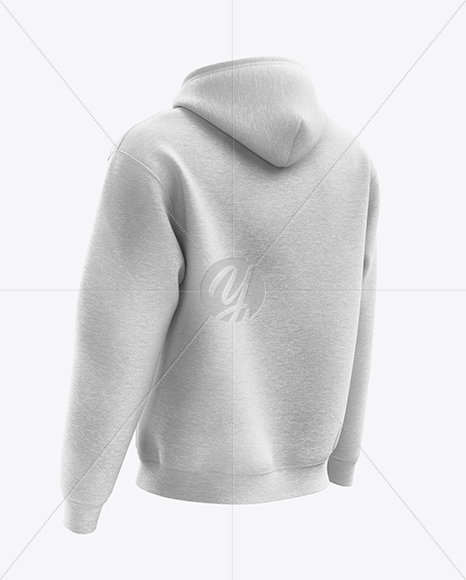 Download Mens Heather Full Zip Hoodie Mockup Front View Yellow Images