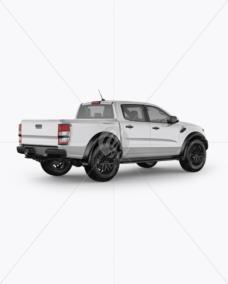 Download Pickup Truck Mockup Back Half Side View In Vehicle Mockups On Yellow Images Object Mockups PSD Mockup Templates