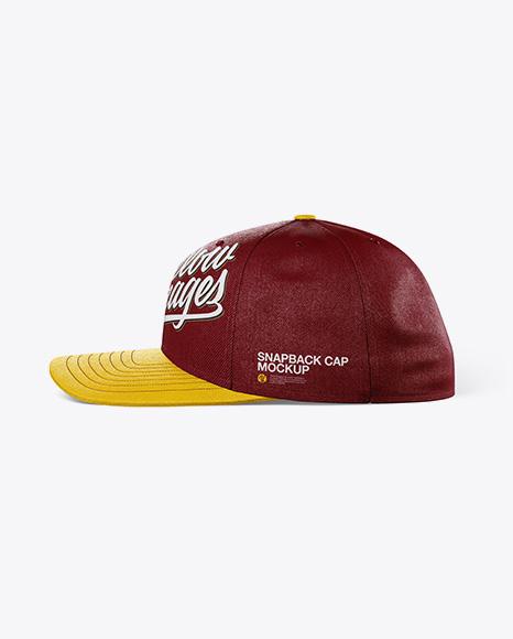 Snapback Cap Mockup - Side View