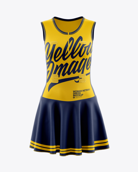 Download Women Netball Dress HQ Mockup - Front View Object Mockups