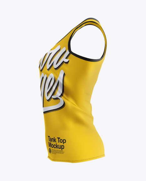 Download Woman's Tank Top Mockup - Side View Object Mockups
