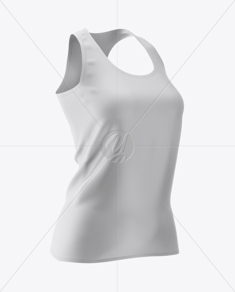 Download Melange Tank Top Mockup Front View Yellow Images