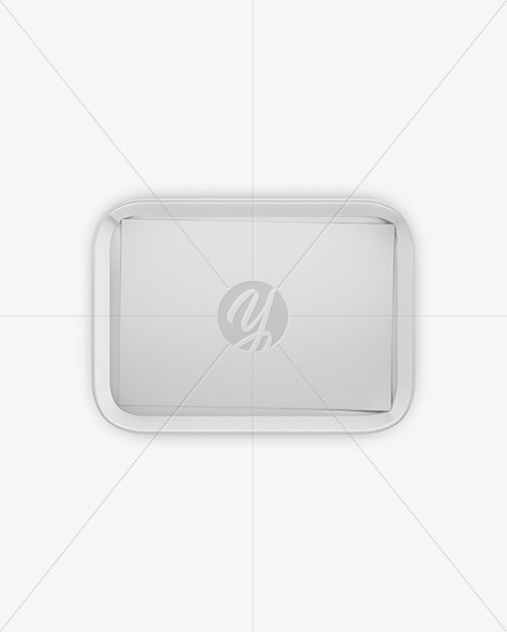 Food Tray w/ Paper Mockup - Top View