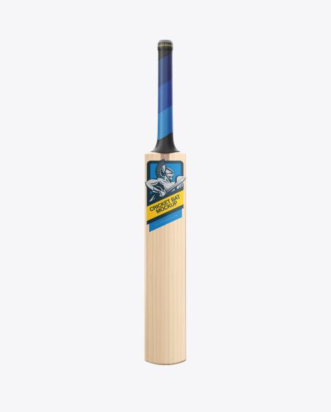 Download Free Cricket Bat Mockup - Front, Side & Back Views PSD Template