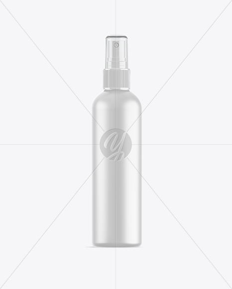 Matte Spray Bottle With Transparent Cap Mockup