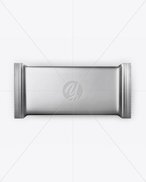 Metallic Chocolate Bar Mockup - Top View
