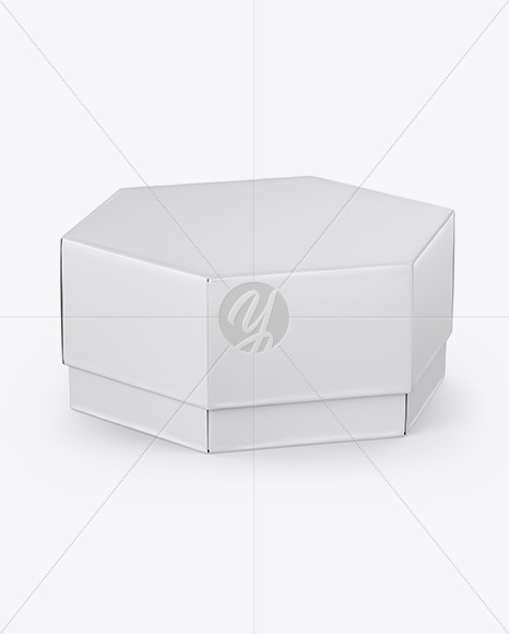 Textured Box Mockup - Half Side View (High-Angle Shot)