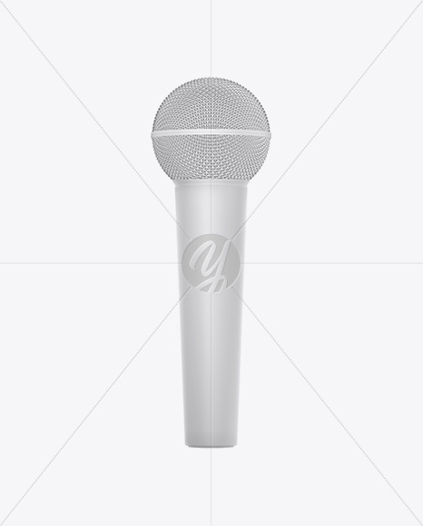 Matte Microphone Mockup
