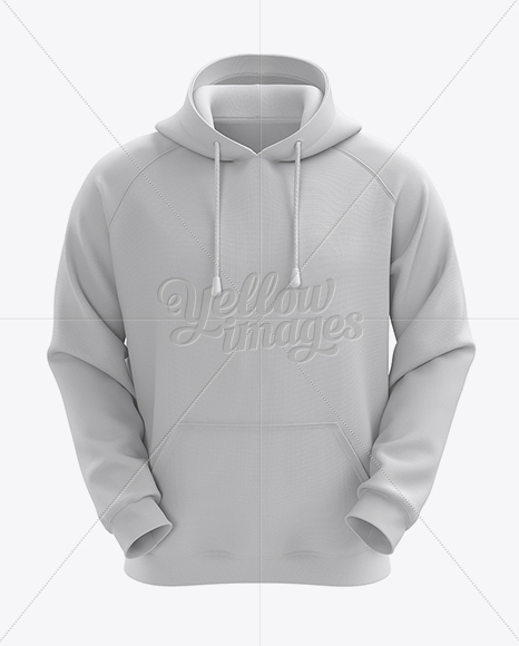 Download Mens Heather Hoodie Mockup Back View Yellowimages